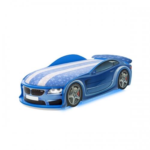 Кровать-машина UNO БМВ синий