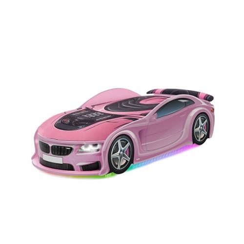 Кровать-машина UNO БМВ розовый