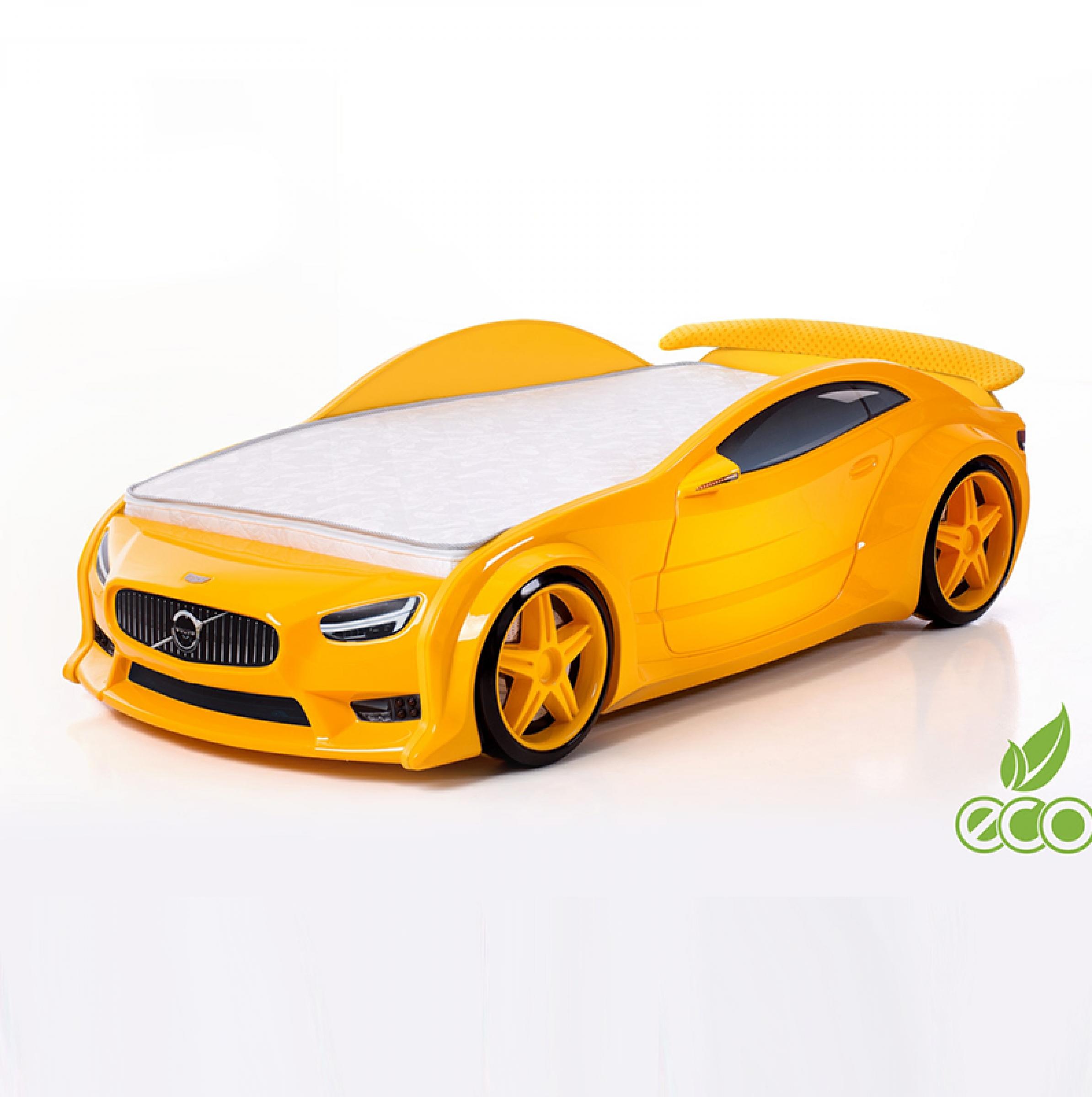 Futuka Kids кровать-машина Вольво-EVO (желтый)