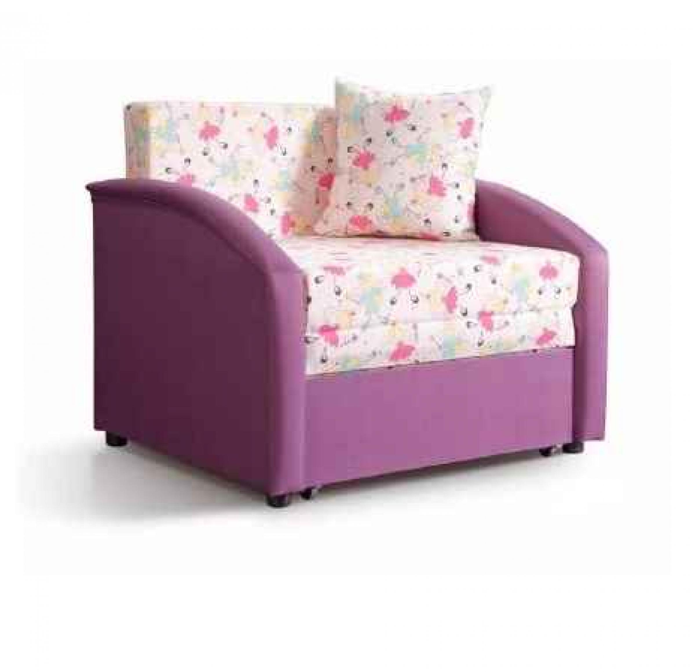 Ф-ка Мирлачева детский мини-диван Даня (принт принцессы)