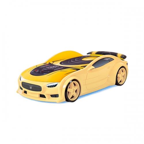 Futuka kids кровать-машина NEO Мазератти (желтый)