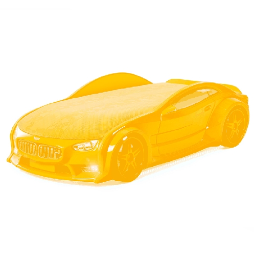 Кровать-машина БМВ-NEO (желтый)