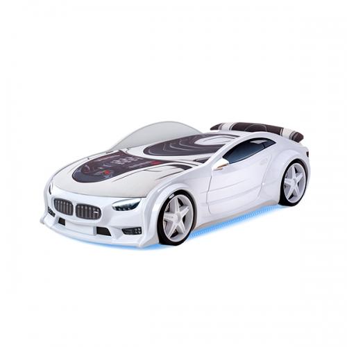 Futuka kids кровать-машина NEO БМВ (белый)