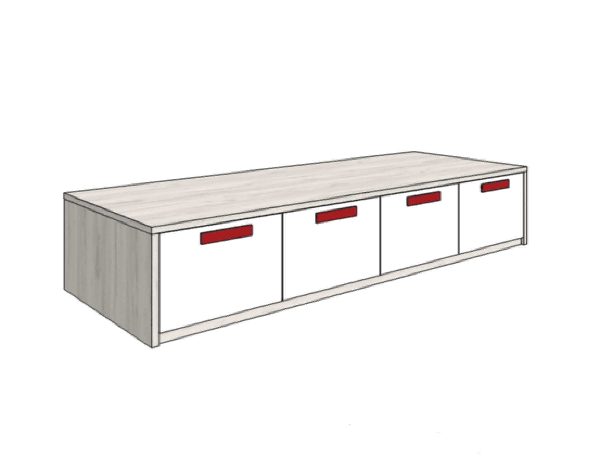 Klюkva кровать-диван с 4-мя ящиками (высота 42,5 см). арт:BS_07