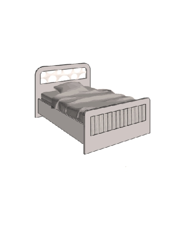 Klюkva кровать отдельностоящая, простая. арт: VB1_10