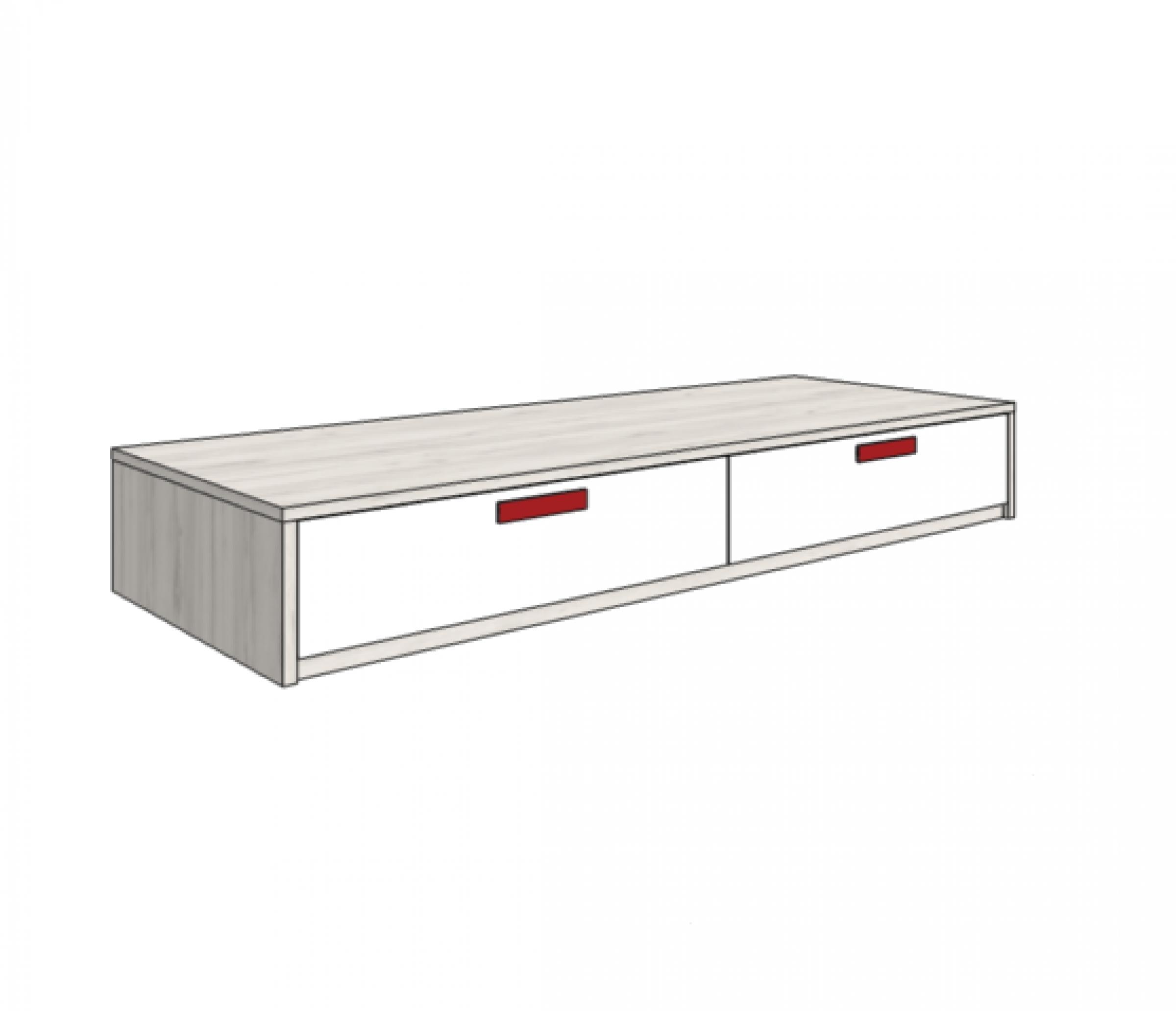 Klюkva кровать-диван с 2-мя ящиками (высота 32,5 см). арт: BSS_01Q