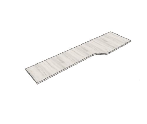 Klюkva столешница для комп.стола с сужением (max=275 см.) арт: WLF
