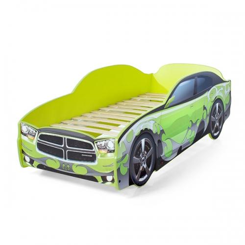 Futuka kids  кровать- машина LIGHT Додж (цвет зеленый)