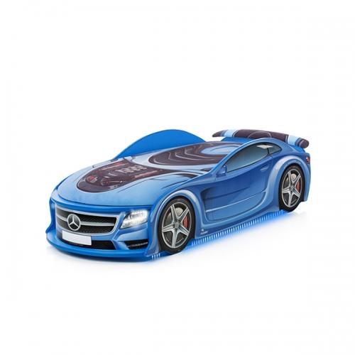 Кровать-машина UNO Мерседес синий