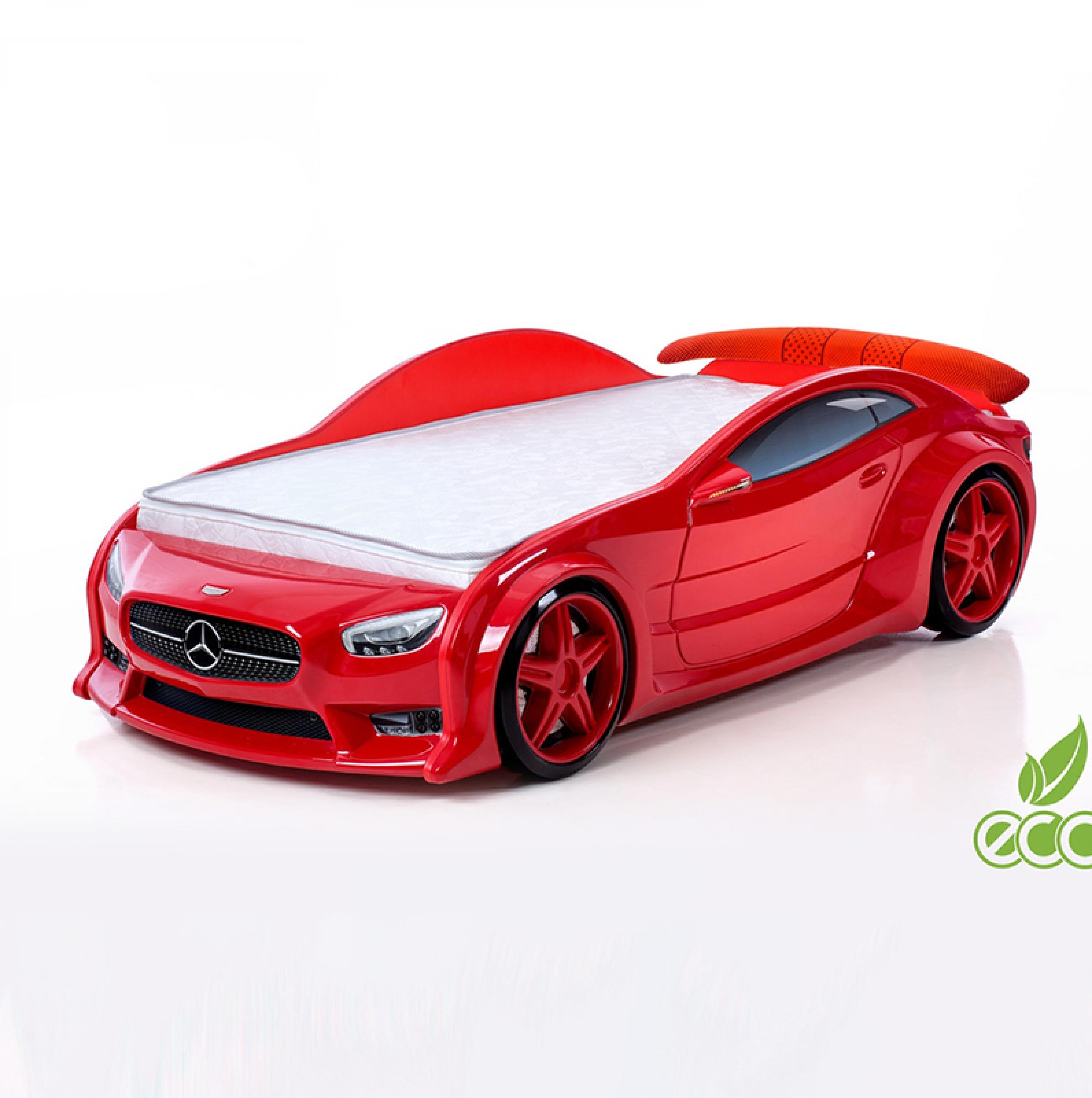 Кровать-машина Мерседес-EVO (красный)