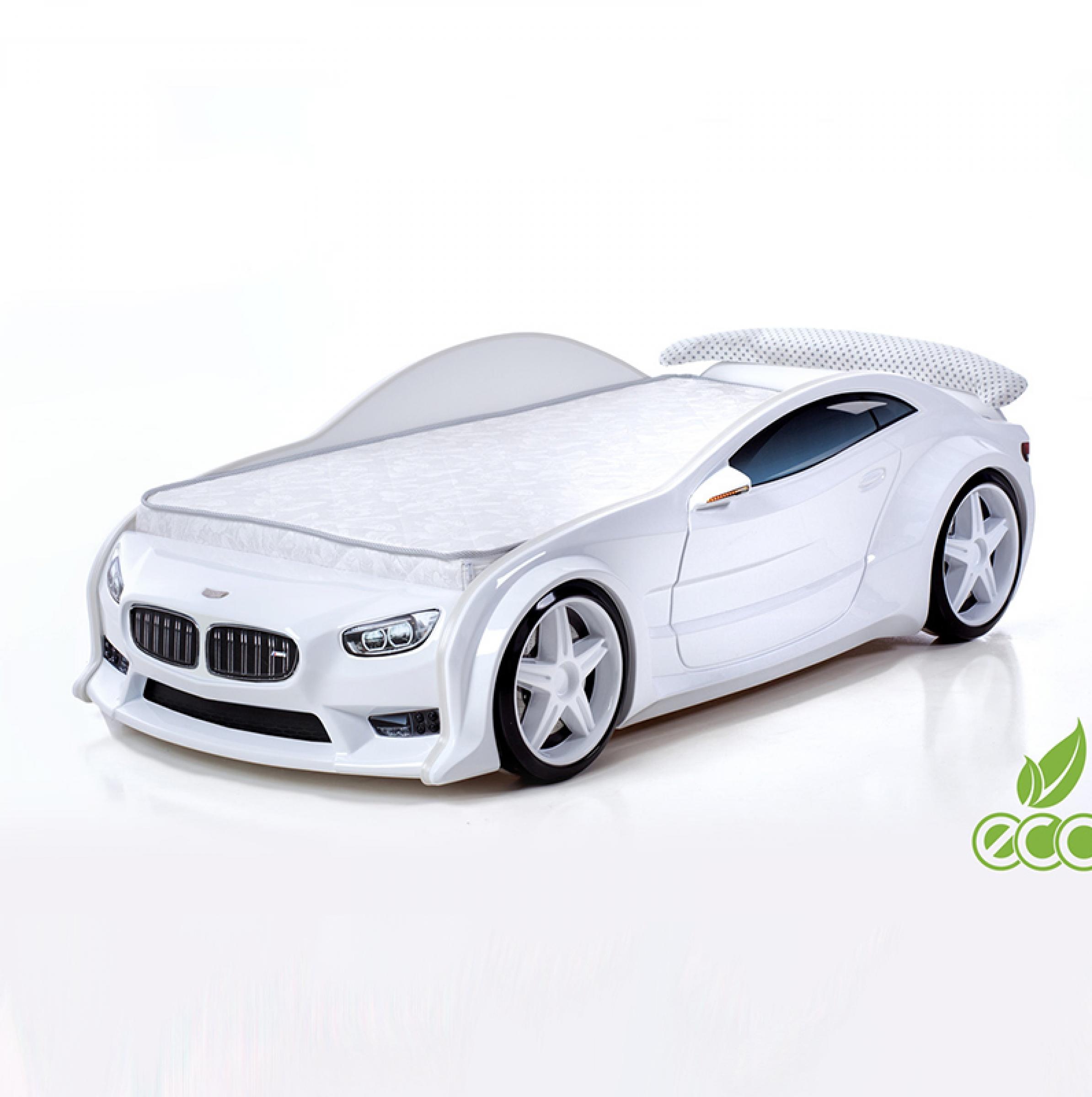 Кровать-машина БМВ-EVO (белый)