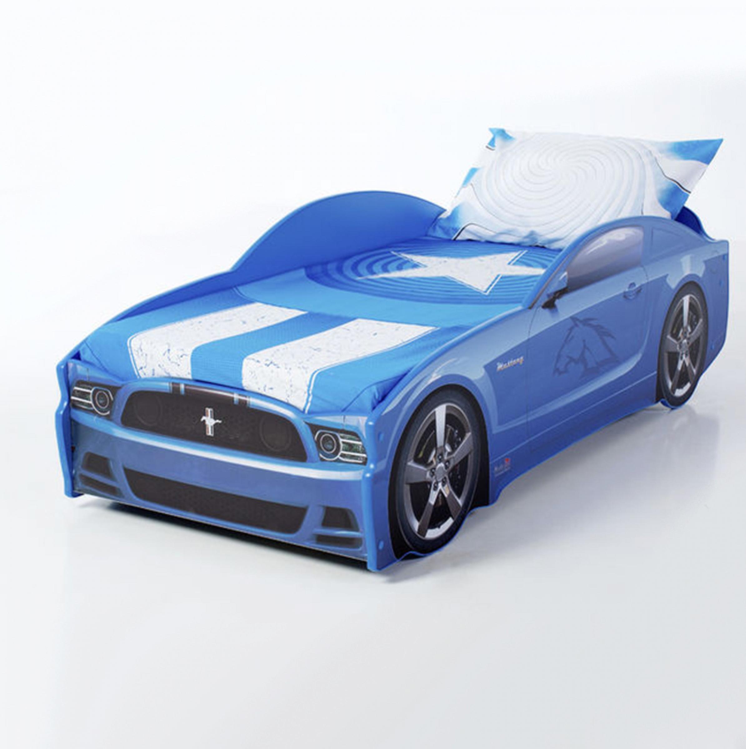 Futuka kids  кровать- машина LIGHT Мустанг (цвет синий)