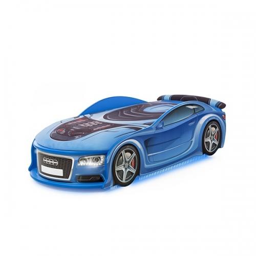 Кровать-машина UNO   Ауди 6 (цвет синий)
