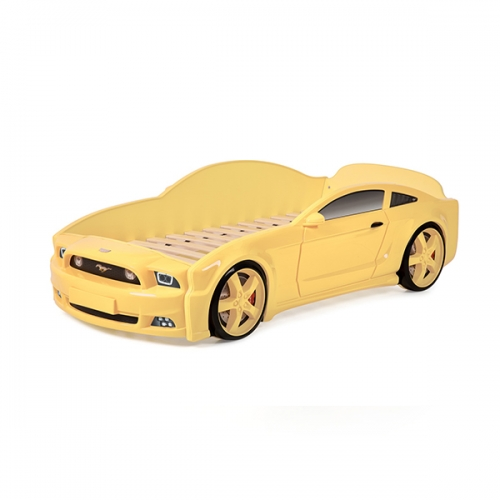Futuka Kids кровать-машина Мустанг 3D (Желтый)