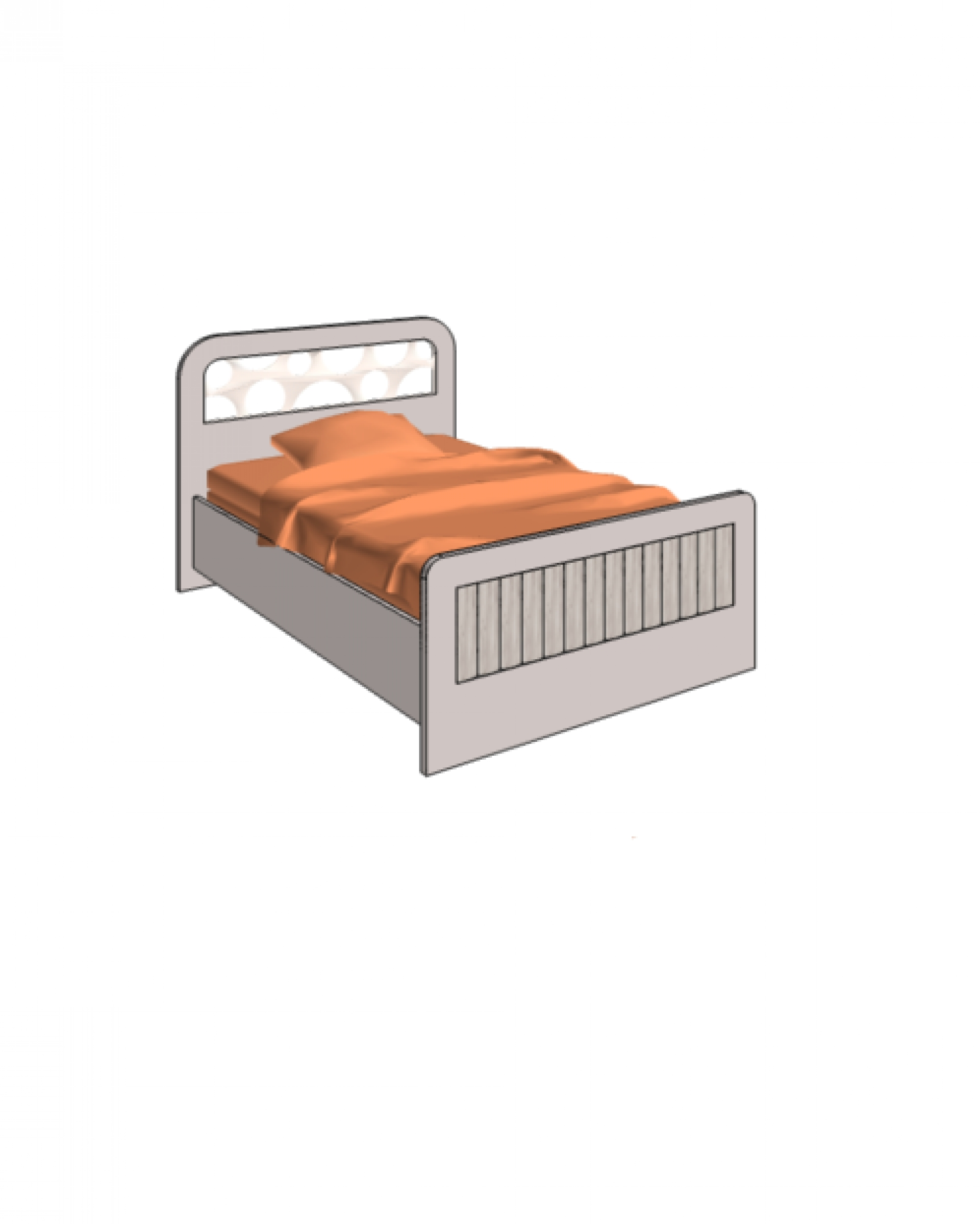 Klюkva кровать отдельностоящая, простая. арт: VB1_12