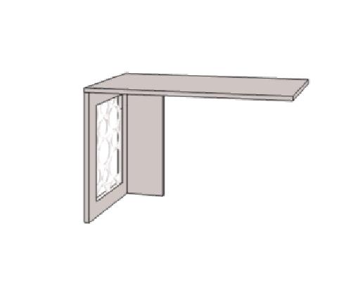 Klюkva Опора для комп.стола с декоративной вставкой. Артикул: VH2L/R