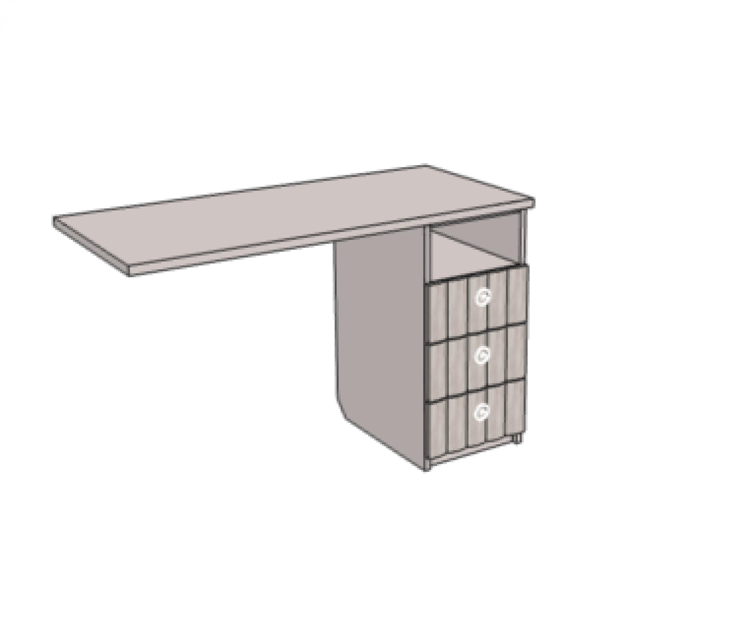 Тумба с 3-мя ящиками для комп.стола (h=171). Артикул: VT2_49Q