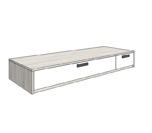 Klюkva кровать диван с 2-мя ящиками ( высота 32,5 см). арт:BSS_02L/R