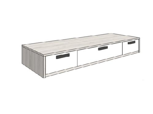 Klюkva кровать-диван с 3-мя ящиками (высота 32,5 см). арт: BSS_03
