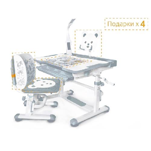 mealux комплект парта и стульчик BD-04 New XL Teddy (с лампой)